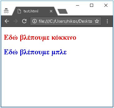 παράδειγμα μορφοποίησης html