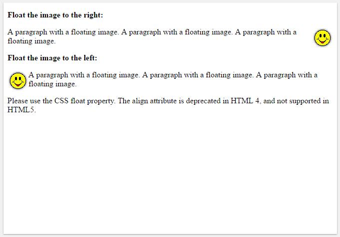 στοίχιση εικόνων html