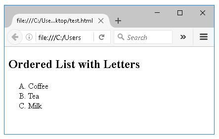 Ταξινομημένη Λίστα με κεφαλαία γράμματα