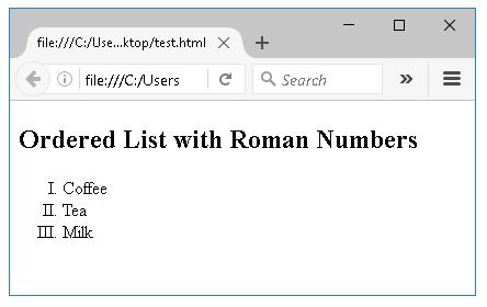 Ταξινομημένη λίστα με κεφαλαίους λατινικούς αριθμούς
