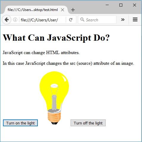 Αλλαγή χαρακτηριστικών της HTML χρησιμοποιώντας JavaScript μετά