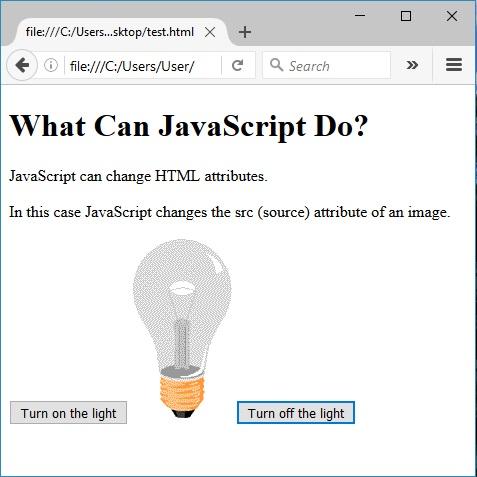 Αλλαγή χαρακτηριστικών της HTML χρησιμοποιώντας JavaScript