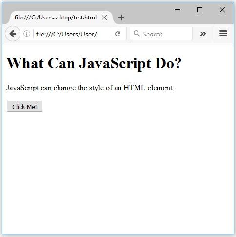αλλαγή css μέσω javascript