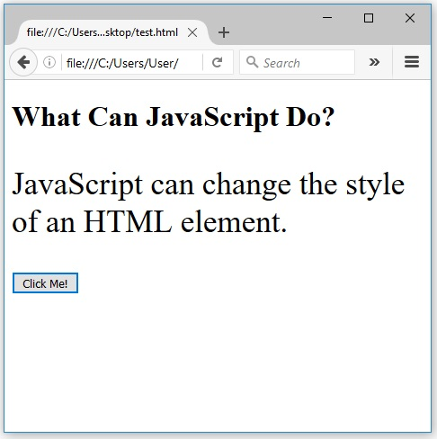 javascript αλλάζει css