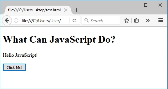 javascript για την αλλαγή περιεχομένου html μετά