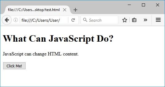 javascript για την αλλαγή περιεχομένου html