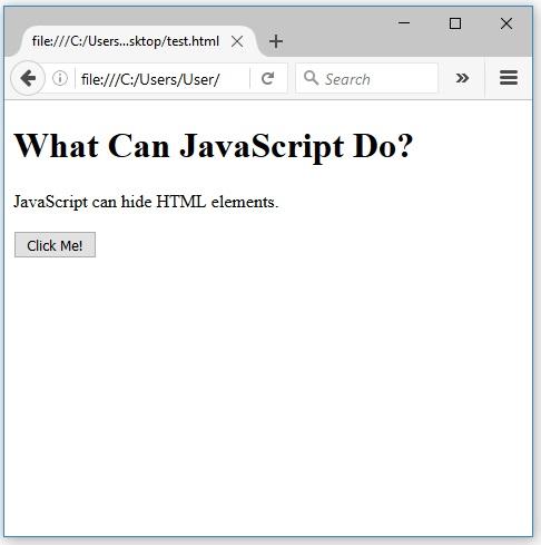 javascript κρύβει css