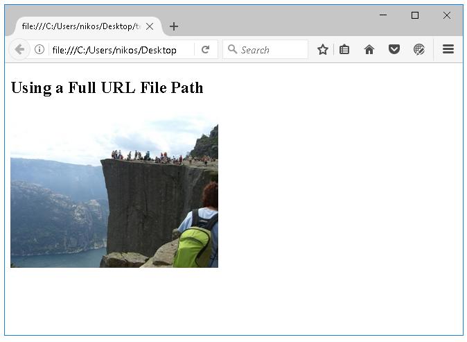 Απόλυτες διευθύνσεις αρχείων html