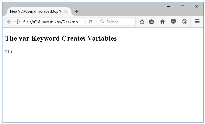 Δεσμευμένες λέξεις στη JavaScript