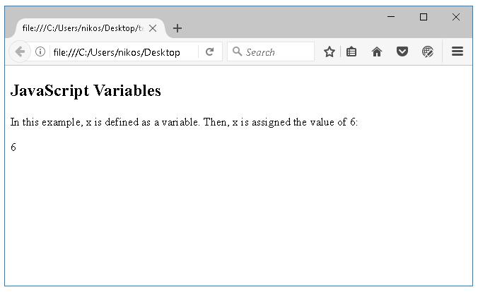 Μεταβλητές στη JavaScript