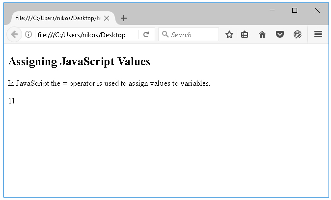 Τελεστές στη JavaScript