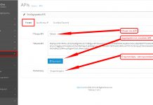 Επεξεργασία API στο opencart