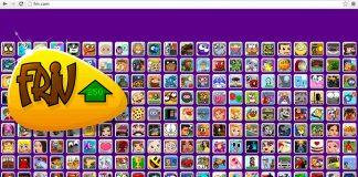 Ο ιστότοπος friv.com όπως φαίνεται σε κάποιο browser
