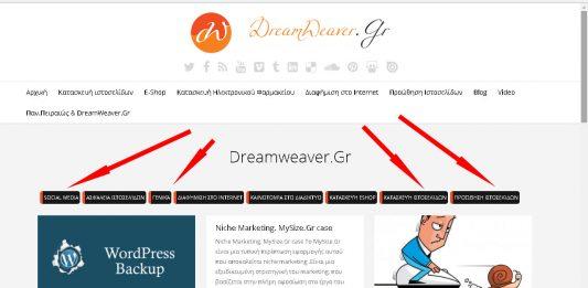 Το ιστολόγιο του ιστότοπου dreamweaver.gr