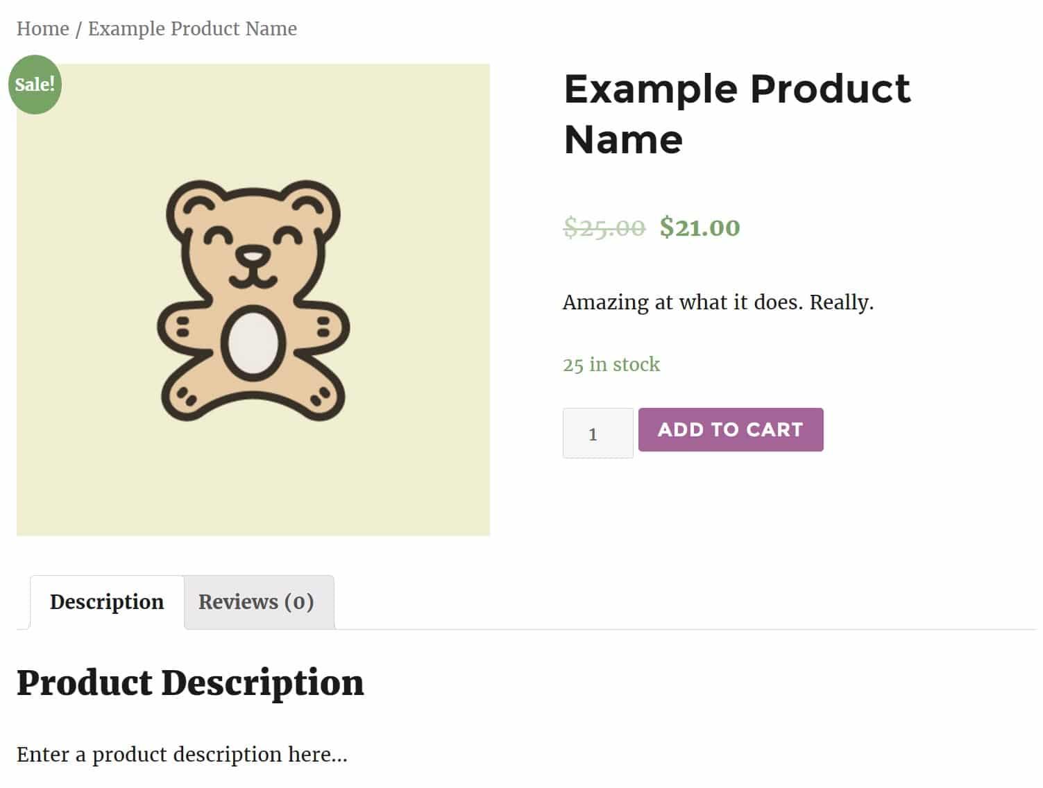 Παράδειγμα εμφάνισης προϊόντος στο WooCommerce