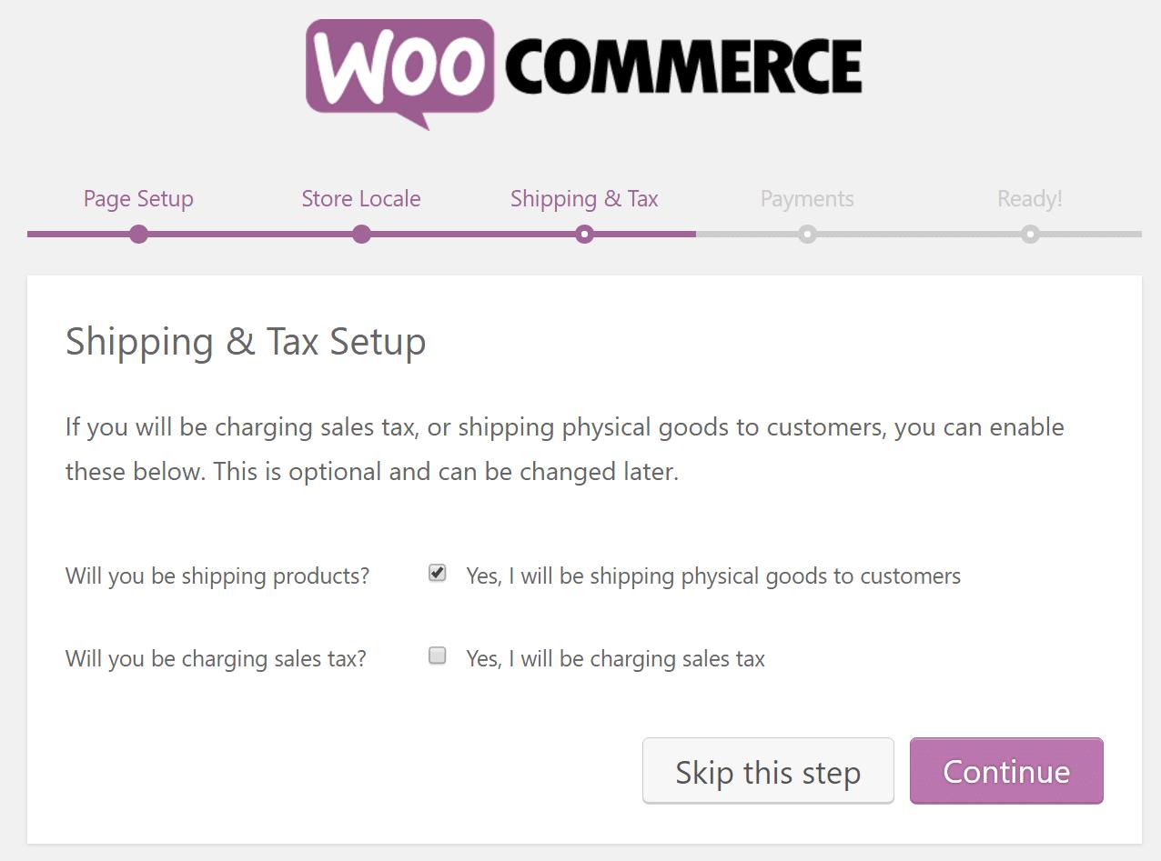 Ρύθμιση επιλογών αποστολής και φορολόγησης του WooCommerce