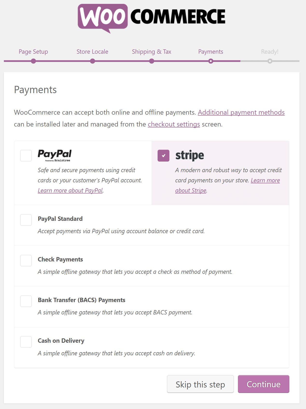 Επιλογή επεξεργαστή πληρωμής του WooCommerce